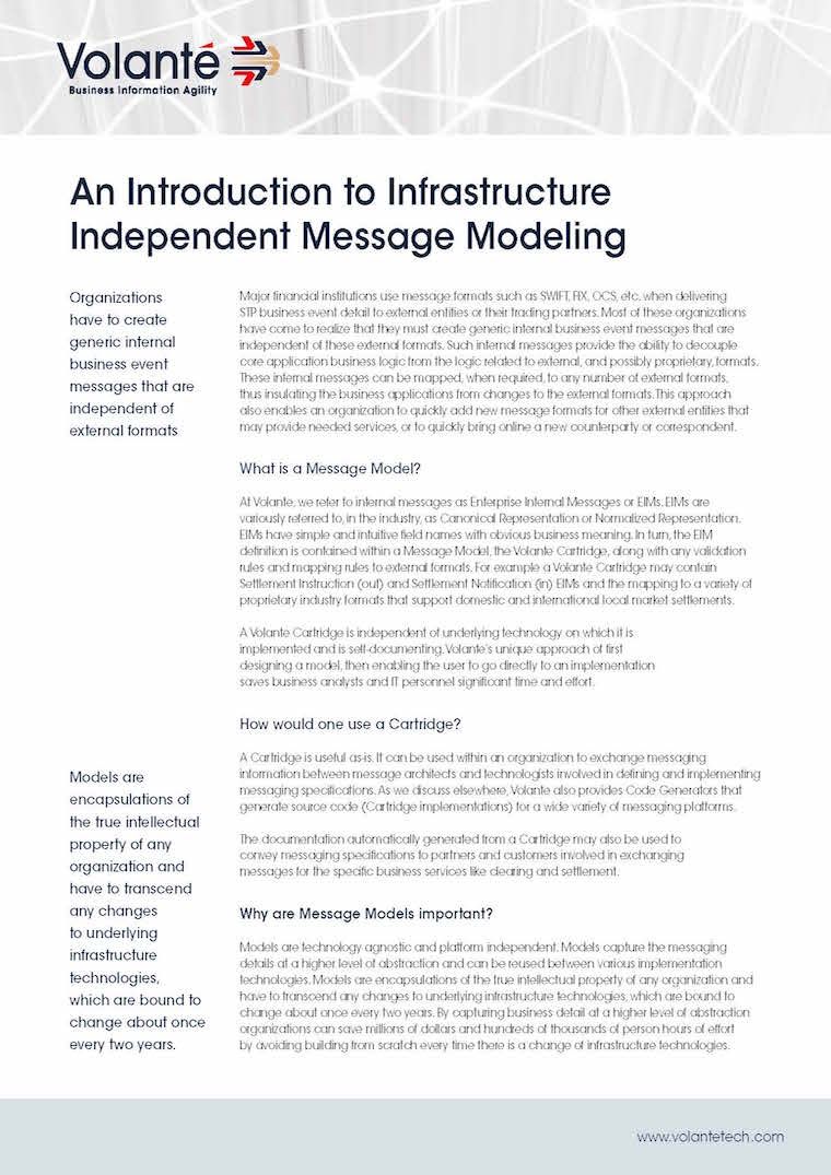 Introduction to Infrastructure Independent Message Modelling